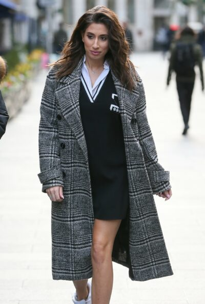 Stacey Solomon Arriving At Global Studios To Promote Her New Book 'Happily Imperfect' On Heart Radio