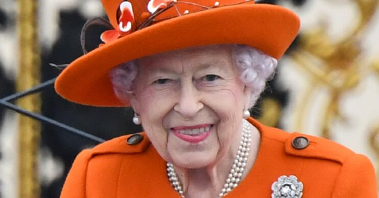 The Queen today launched a Commonwealth Games baton ceremony