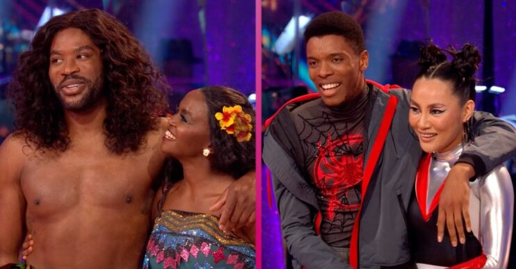 Couples Ugo Monye and Oti Mabuse, and Rhys Stephenson and Nancy Xu both performed a Couple's Choice routine