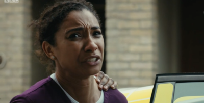 Tina arrested in Casualty