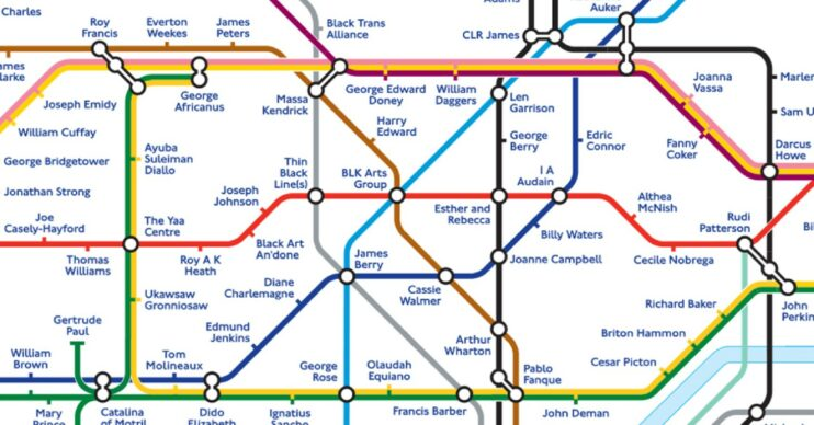 The London Tube map has been rebranded for Black History Month