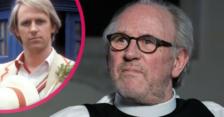 Peter Davison as Vicar in The Larkins
