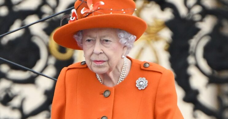 The Queen during royal engagement