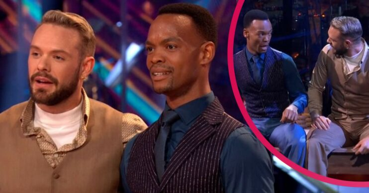 John Whaite and Johannes Radebe on Strictly Come Dancing