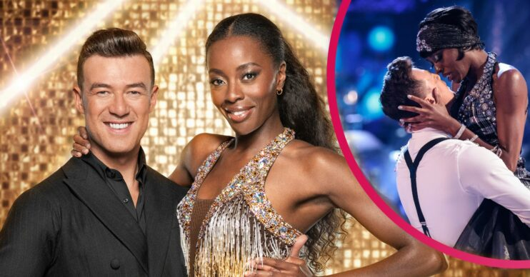 Strictly Come Dancing star AJ Odudu says there is 'romance' in her routines with Kai Widdrington