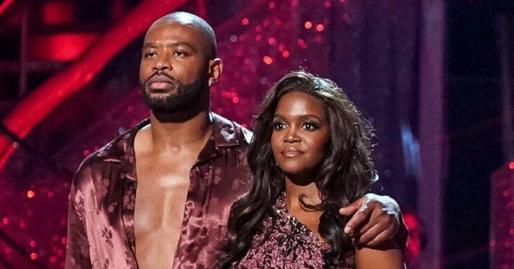 Ugo Monye and Oti Mabuse lose dance-off to Rhys Stephenson