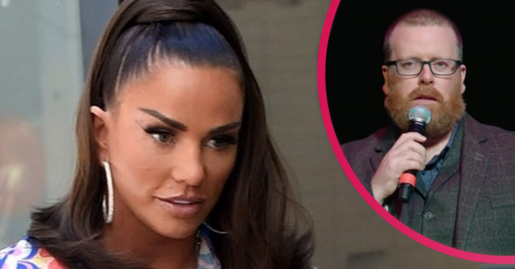 Katie Price suffered at the hands of comedian Frankie Boyle in 2010 who made a joke about Harvey