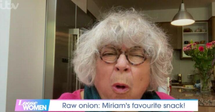 Miriam Margolyes eats onion on Loose Women today